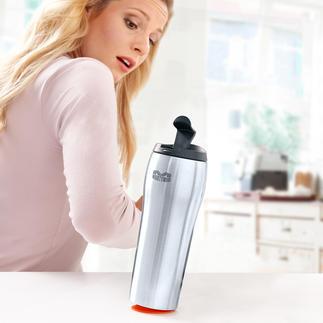 Mighty Mug® Endlich: 100 % kippfest. 100 % dicht. Mit US-patentiertem Ansaugboden.
