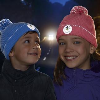 Twinkle Kid® Reflektor-Mütze Cool für Kids: die trendige Bommel-Mütze mit taghellem Leuchteffekt. Optimal sichtbar in der Dunkelheit - durch leuchtstarke Reflektorfasern in Bommel und Umschlag.