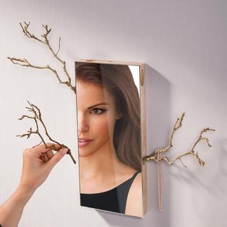 """Spiegel """"Belle du Jour"""" Unzählige Gestaltungsmöglichkeiten. Durch seitliche Halterungen vielseitig zu dekorieren – immer einzigartig."""