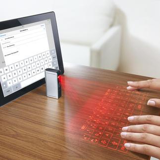 Laser-Projektions-Tastatur Kaum grösser als ein Feuerzeug – und doch eine vollwertige Tastatur?