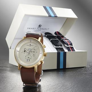 """Smart Turnout Herren-Armbanduhr """"Style-Change"""" Hochwertiges Quarzwerk. 3 verschiedene Looks. Sehr vernünftiger Preis."""