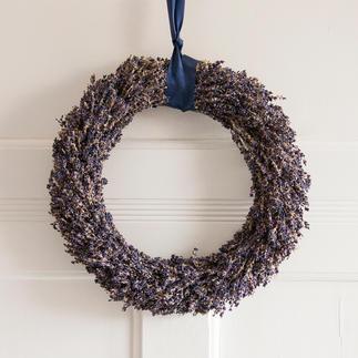Lavendelkranz oder Lavendelstrauss Das Flair der Provence: handgebundener Tisch- und Türschmuck aus echtem Lavendel.