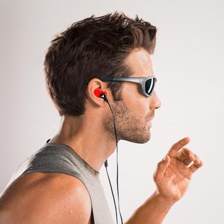 Anpassbare Silikon-Ohrhörer Individuell anpassbar an Ihren Gehörgang. Rutschen nicht. Drücken nicht. Fallen nicht heraus.