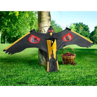 Flugdrache Lautlos, ohne Strom, Chemie, extra Kosten befreit dieser Flugdrache Ihren (Nutz-)Garten von lästigen Tieren.