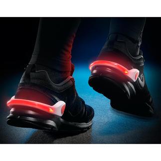 LED-Schuhlicht, 2er-Set Bequem. Stylisch. Und immer dabei. Leuchtende LEDs statt einfache Reflektorstreifen. Praktisch zum Anklemmen.