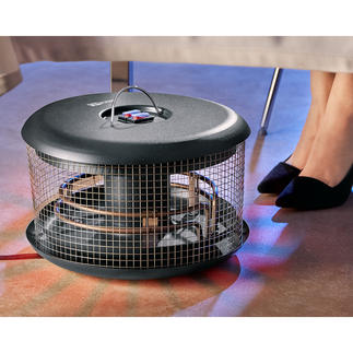 Wärmepilz Bellardor Handlich, energiesparend, sicher und preisgünstig. Sorgt immer für wohlig warme Füsse - outdoor und indoor.
