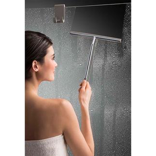 XL-Duschabzieher mit Silikonhaken Der schönere Duschabzieher ist auch der Bessere. Kein Bücken und Strecken.