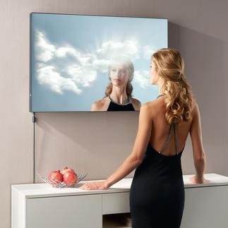 """Spiegel """"Wolkenblick"""" Die lebendige 3D-Überblendung von Spiegelbild, Licht und Wolkenbildern."""