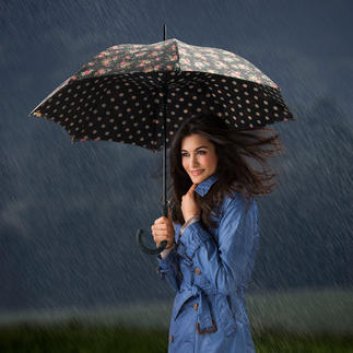 Bloomsbury Regenschirm Britisch stilvoller Mustermix: der Schirm mit innen ausgekleideter Kuppel.