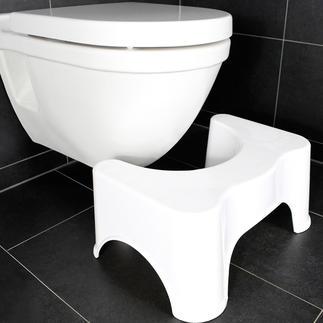 Toilettenhocker Hocken statt sitzen: Der Toilettenhocker gibt Ihnen auf dem WC die optimale, natürliche Haltung.