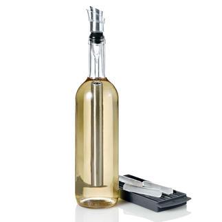 4-in-1-Icepour Kühlstab Edelstahl-Kühlstab, Ausgiesser, Belüfter und Flaschenverschluss in einem. Hält Ihre Weine optimal kühl.