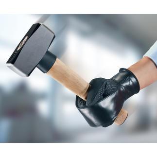 Powergrip-Arbeitshandschuhe (2 Stück) Der geniale Arbeits- und Gartenhandschuh mit US-patentiertem Werkzeug-Haltesystem.