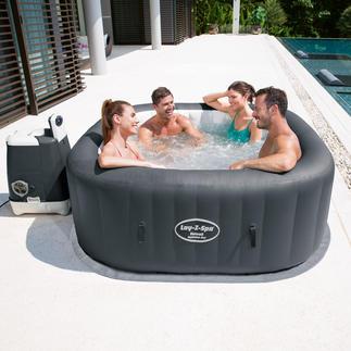 Aufblasbarer Whirlpool HydroJet Pro Mit Sprudel- und Wasserstrahl-Massage. Mit 120 Luftdüsen und 8 einstellbaren Hydro-Jet-Düsen.