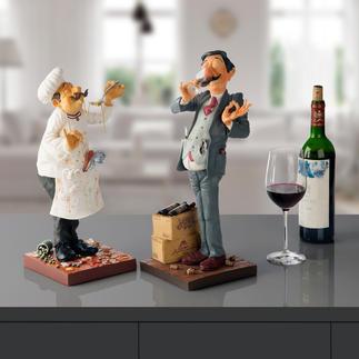 Forchino Figur Koch oder Weintester Detailfeine Skulpturen des Künstlers Guillermo Forchino. Jede von Hand bemalt.