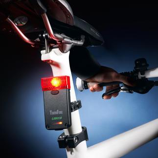 Fahrradrückleuchte mit Bremslicht Mehr Sicherheit für Radfahrer. Zugelassen für den Strassenverkehr.