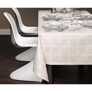 Fleckabweisende Tischdecke Teflon® ummantelte Microfaser macht das Gewebe dauerhaft fleckabweisend und pflegeleicht.