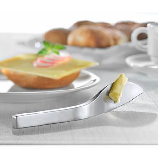 Balance Buttermesser Finnisches Edelstahl-Design hält Butter & Co. sauber von Ihrem Tisch(tuch) fern.