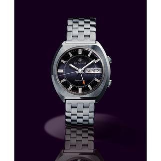 """Blanquier Wecker-Armbanduhr """"1973"""" Rarität für Liebhaber: die Wecker-Armbanduhr mit Original-Uhrwerk und -Gehäuse aus den 70er-Jahren."""