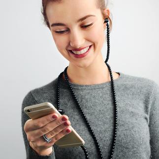 Fashion-Headset Stylisches Fashion-Accessoire: Der In-Ear-Kopfhörer mit Kette statt Kabel.