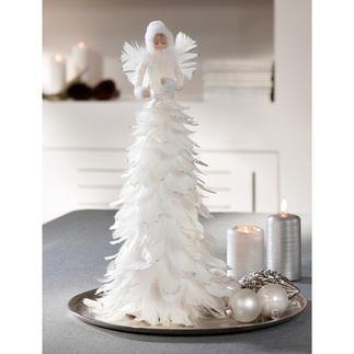 Eisfee Märchenhafte Schönheit: die Eisfee aus schneeweissen Federn. Flaumzart. Romantisch. Effektvoll mit Glitzer betupft.