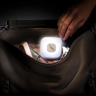 Handtaschenlicht mit Powerbank Genial kombiniert: Sensorgesteuertes Handtaschenlicht und 2.000 mAh-Powerbank.