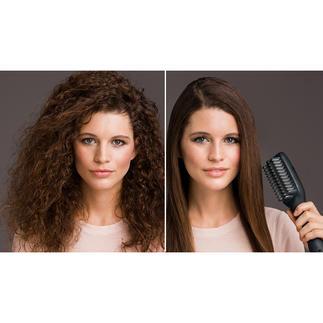 e-styler Glättbürste 50 % Zeitersparnis. Und schonend geglättetes Haar mit seidigem Glanz.
