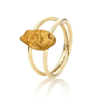 Goldnugget-Ring Ein echtes Goldnugget: aussergewöhnliches Schmuck-Unikat, geformt von der Natur.