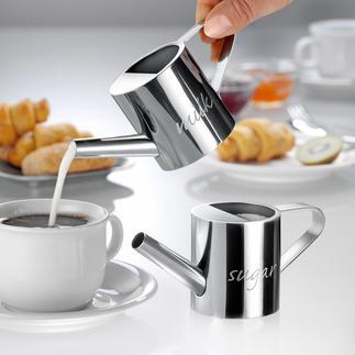 Giardino Milch- und Zucker-Giesskanne, 2er-Set Die besseren Milch- und Zuckerspender: dosieren präziser, mit einem Guss.