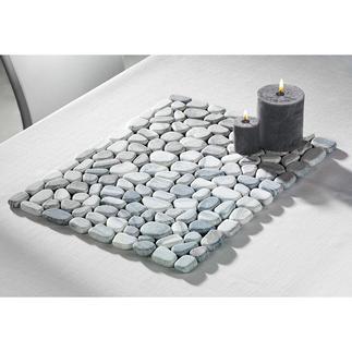Marmor-Tischsets Tischmatten aus echten Steinen. Hitze- und witterungsbeständig. Ideal für Terrasse und Küche.