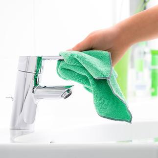 Bioaktive Microfaser-Badtücher, 3er-Set Diese Wundertücher vereinen die extreme Reinigungskraft der Microfaser mit der antibakteriellen Wirkung reinen Silbers.