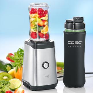 """Caso Smoothie-Mixer Einfach und schnell wie nie: hausgemachte Smoothies """"to go"""". Kinderleichte 1-Tasten-Bedienung."""