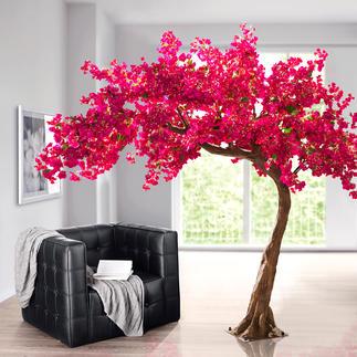 Kunstbaum Bougainvillea Eine prachtvolle Bougainvillea: Ihr Dauerblüher für Drinnen und Draussen. Mit rund 5.500 täuschend echten, pinkfarbenen Blüten.