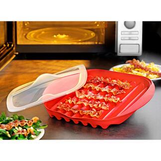 Mikrowellen-Baconschale Knuspriger Bacon – schnell und einfach wie nie. Kein Herd, keine Pfanne, keine Fettspritzer.