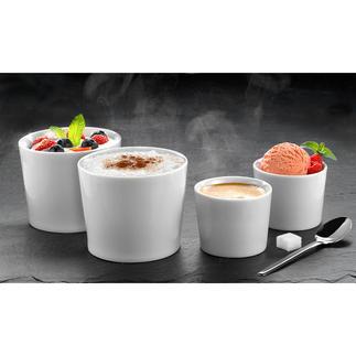 """Isolier-Becher """"Version One"""", 2er-Set Doppelwandiges Porzellan hält Ihre Getränke und Speisen länger heiss oder kalt."""