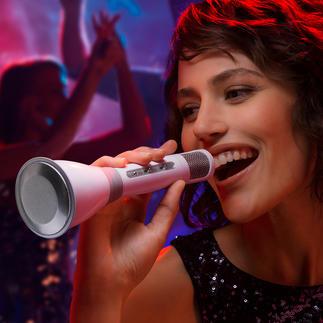 Bluetooth Karaoke Mikrofon Fun und perfekte Performance: mit Stereo-Mikro, 3W-Lautsprecher, Lautstärkenregler und Echo-Effekt.