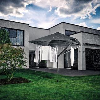 Leifheit Wäschespinne LinoProtect 400 Genial: 40 m Freiluft-Wäscheleine mit Dach. Schützt Ihre Wäsche vor Regenschauern und bleichenden UV-Strahlen.