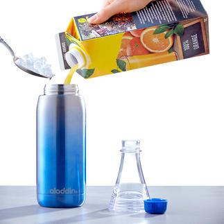 Trinkflasche Easy-Fill Aufschrauben. Befüllen. Geniessen. Mit abnehmbarem Flaschenhals und doppelwandigem Edelstahlkörper. 100 % Auslaufsicher.