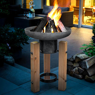 Feuer-/ Pflanzschale Dekorative Pflanzschale im Sommer. Imposante Feuerschale für Herbst und Winter.