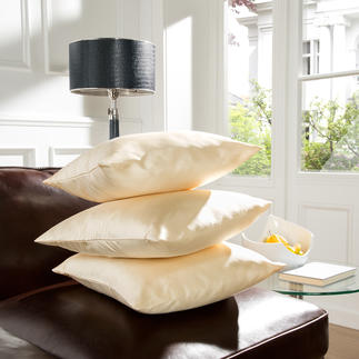 Satinseiden Kissen, 3er-Set Aus kostbarer Satinseide - zu einem erfreulich erschwinglichen Preis.