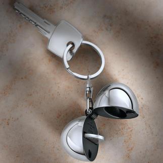 Design-Schlüsselanhänger Coin Alessi-Design hält Ihre Schlüssel. Und bewahrt den Einkaufschip. Aus hochglanzpoliertem Edelstahl.