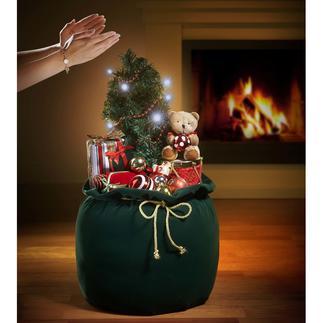 Weihnachtssack Reich dekoriert. Beschert die schönsten Weihnachtsmelodien. Faszinierende Überraschung für Gross und Klein.