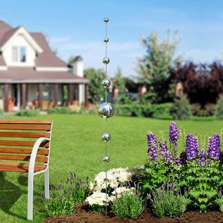 Gartenkugeln-Stab Schlechte Nachrichten für böse Geister. Und ein schöner Akzent in Ihren Blumenrabatten, am Teich, ...