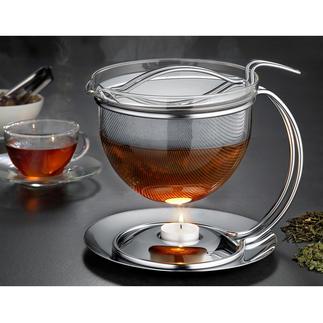 """1,5 l """"Filio"""" Teekanne mit Stövchen Die schönere Teekanne ist auch die bessere. Mit extragrossem Siebeinsatz für maximale Aroma-Entfaltung und Stövchen."""