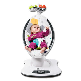 mamaRoo® 3D-Babywippe Die wohl coolste Babywippe der Welt: spielt Musik und wiegt Ihren Liebling sanft schwingend in den Schlaf. Auf Tastentipp.