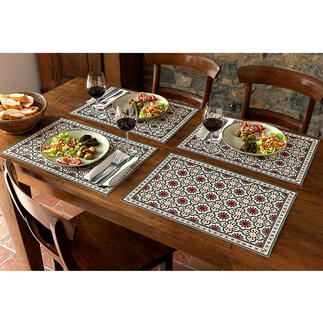 Maurische Tischsets oder Tischläufer Der neue Wohntrend. Jetzt auch für Ihren schön gedeckten Tisch. Für drinnen und draussen.