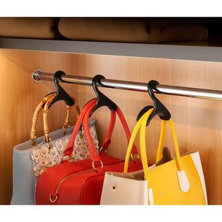 """Handtaschenbügel """"Black Swan"""", 3er-Set Standesgemässe Aufbewahrung für Ihre Lieblingstaschen."""