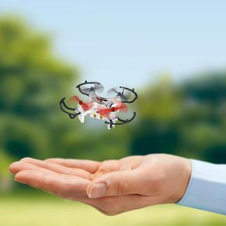 Mini-Copter mit Kamera Eine der kleinsten Kamera-Drohnen der Welt. Gerade 7,3 cm lang. Dabei ein echter Flugkünstler sogar für 360°-Stunts.