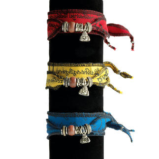 Tibetisches Wunsch-Armband Nicht irgendein Armband im Ethno-Stil, sondern ein seltenes Wunschband. Von Hand gefertigt.