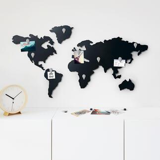 Magnetische Weltkarte Für Weltenbummler und Global Player: Die Weltkarte als Magnet-Pinnwand.