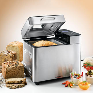 Gastroback Brotbackautomat Advanced Design 18 Programme, 3 Bräunungsgrade, 3 Brotgrössen, automatischer Zutatenspender für Körner, Nüsse, Rosinen, ...